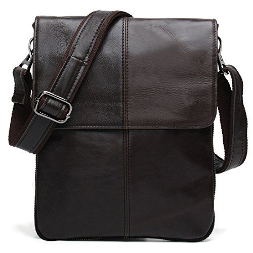 9d47ffee09 BAIGIO Small Leather Messenger Bag Casual Satchel Shoulder Bag Vintage Purse  (Retro Brown)     See this great product. (This is an affiliate link)