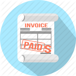 Accounting Check Document Invoice Order Paid Payment Icon Business Icon Icon Invoicing