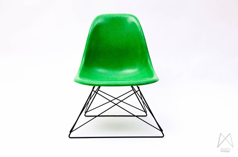 Charles And Ray Eames Fiberglass Side Chair Kelly Green Cats Cradle Base Eames Charles Ray Eames Side Chairs