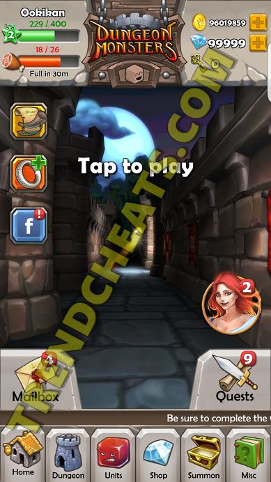 DungeonMonstersRPGHackTooliOSAndroidGemsCoins