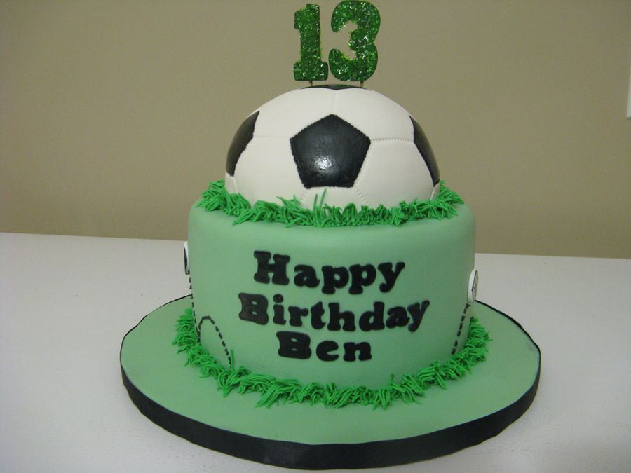 Soccer Birthday Birthday Cake Kids 14th Birthday Cakes Soccer Birthday Cakes