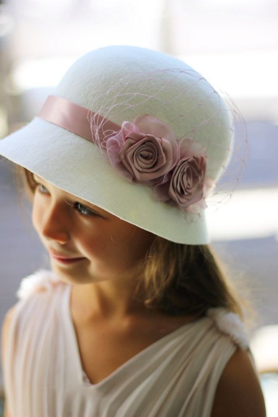 34e273d70201c4 Girls Bridal Hats Custom Made Girls Hat by NadineMillineryKids Wedding  Girl, Wedding Hats, Bridal