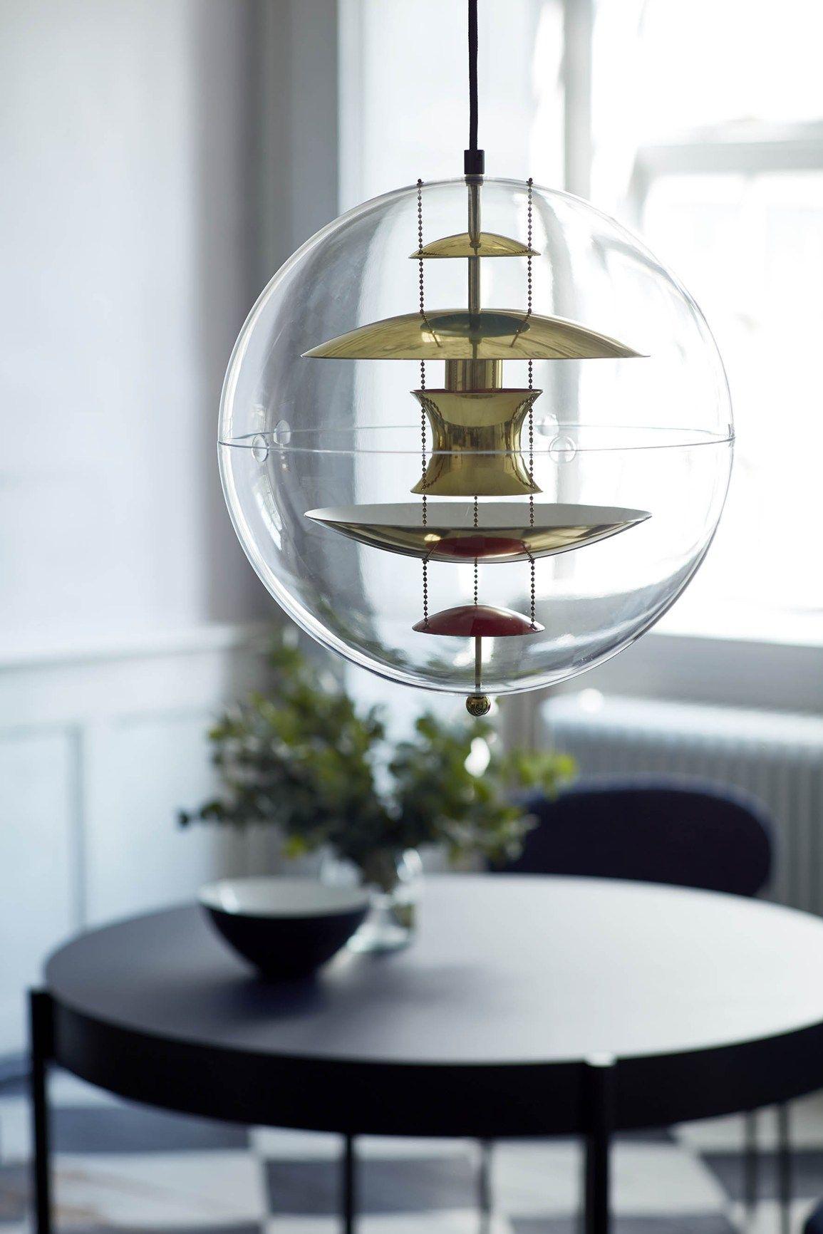 Verner Panton's Globe in New Materials   Glass ball pendant