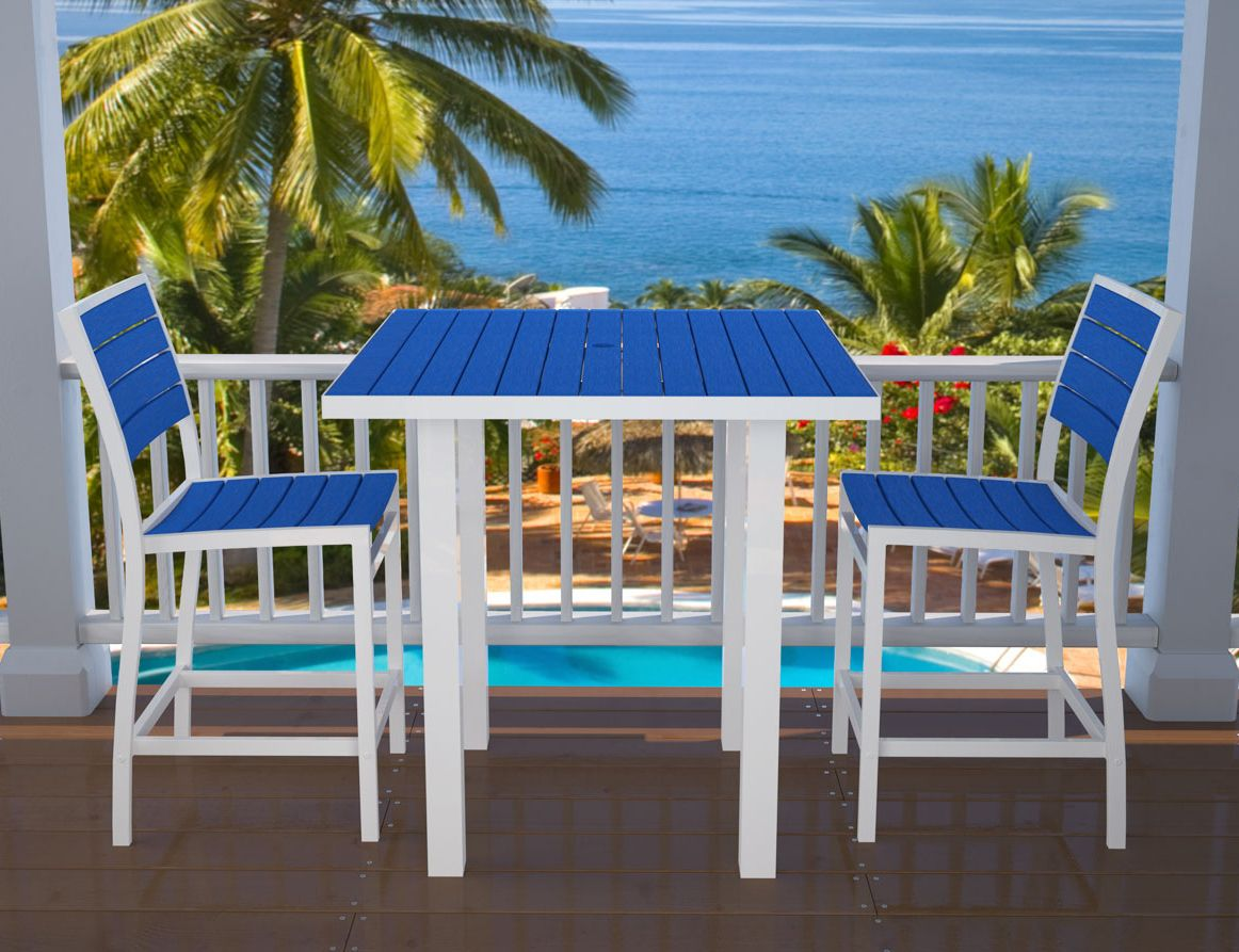 Outdoor Furniture At Sawbridge Studios Euro Counter Height Dining From The  Euro Collection American Made