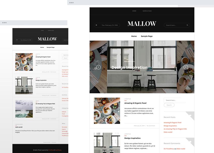 Mallow - Responsive Magazine Theme: A classy and flexible theme ...