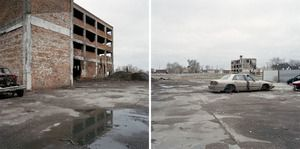 Jeff Brouws, Discarded Landscape #23 (Abandoned Manufacturing Plant in Mixed-Use Neighborhood), Detroit, Michigan, 2006