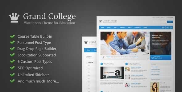 Download and review of Grand College - Wordpress Theme For Education ...