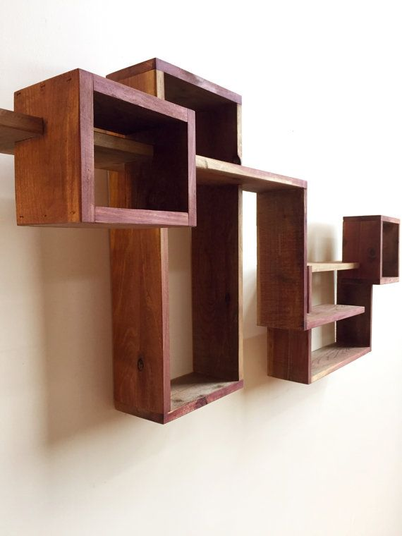 Geometric Shadow Box Display Cabinet Wall Hanging Shelf Wall