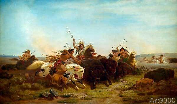 Carl Wimar - The Buffalo Hunt