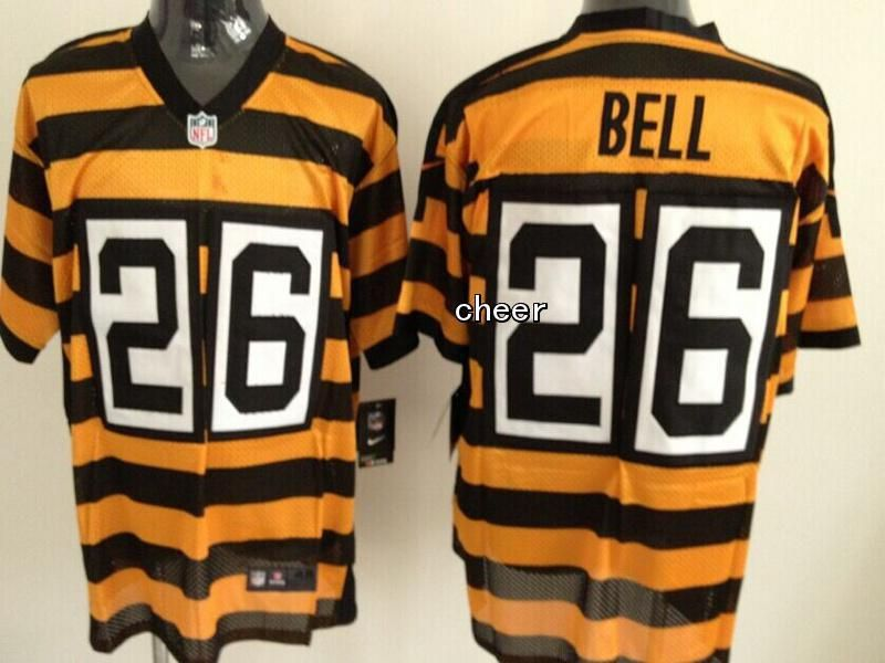 0d25c294d NFL Throwback Jersey Pittsburgh Steelers  26 bell yellow black stripes  Jersey
