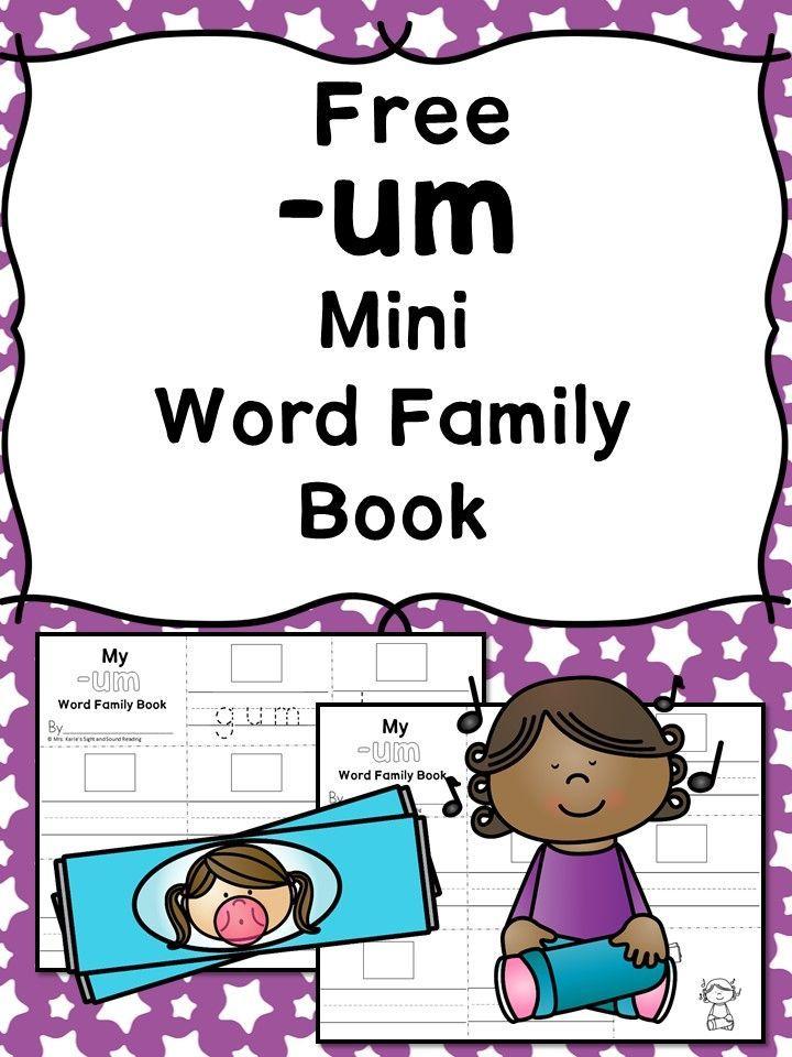 Um Cvc Word Family Worksheets Make A Word Family Book Homeschool