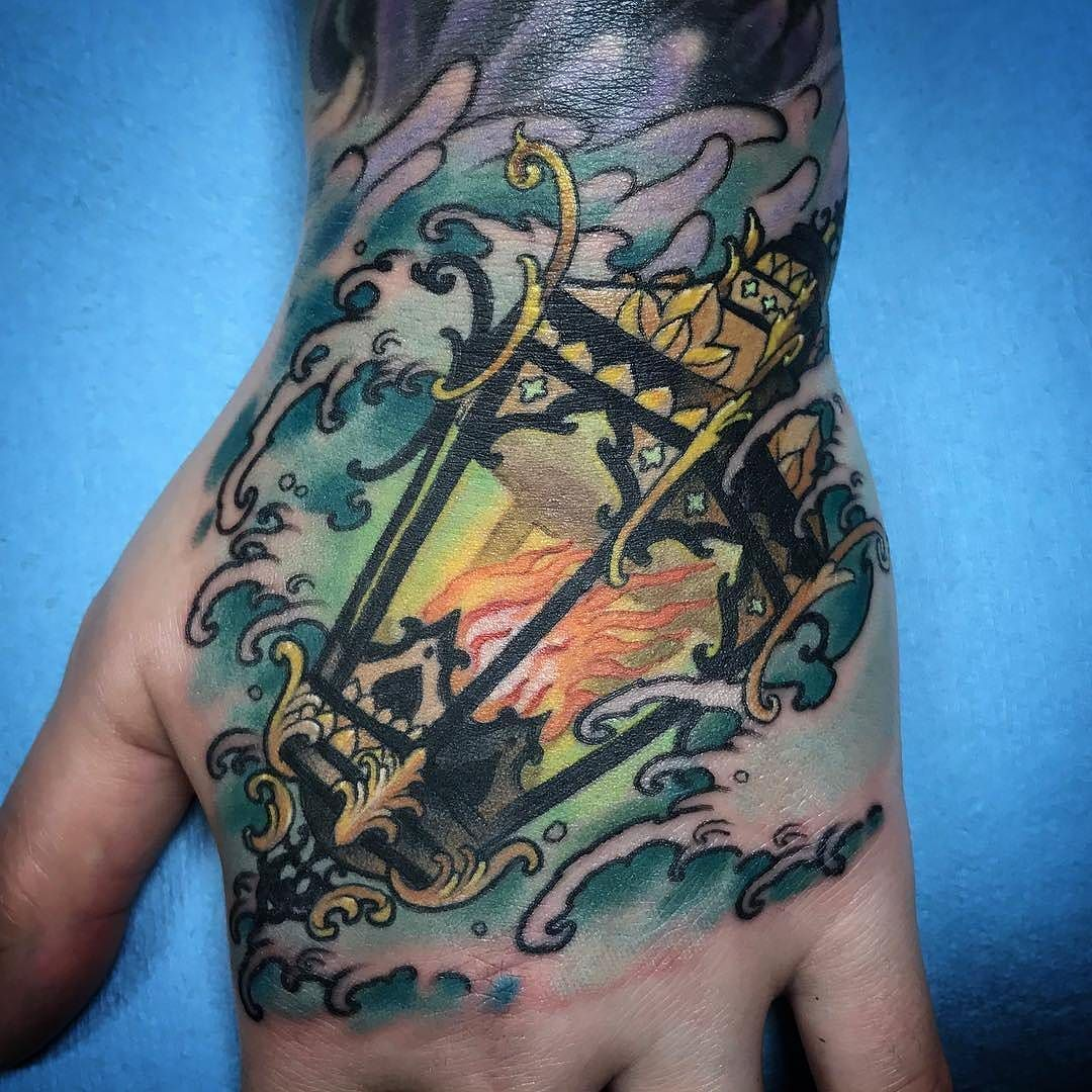Lantern Hand tattoo by @atom_artcore at ArtCore in Seattle ...