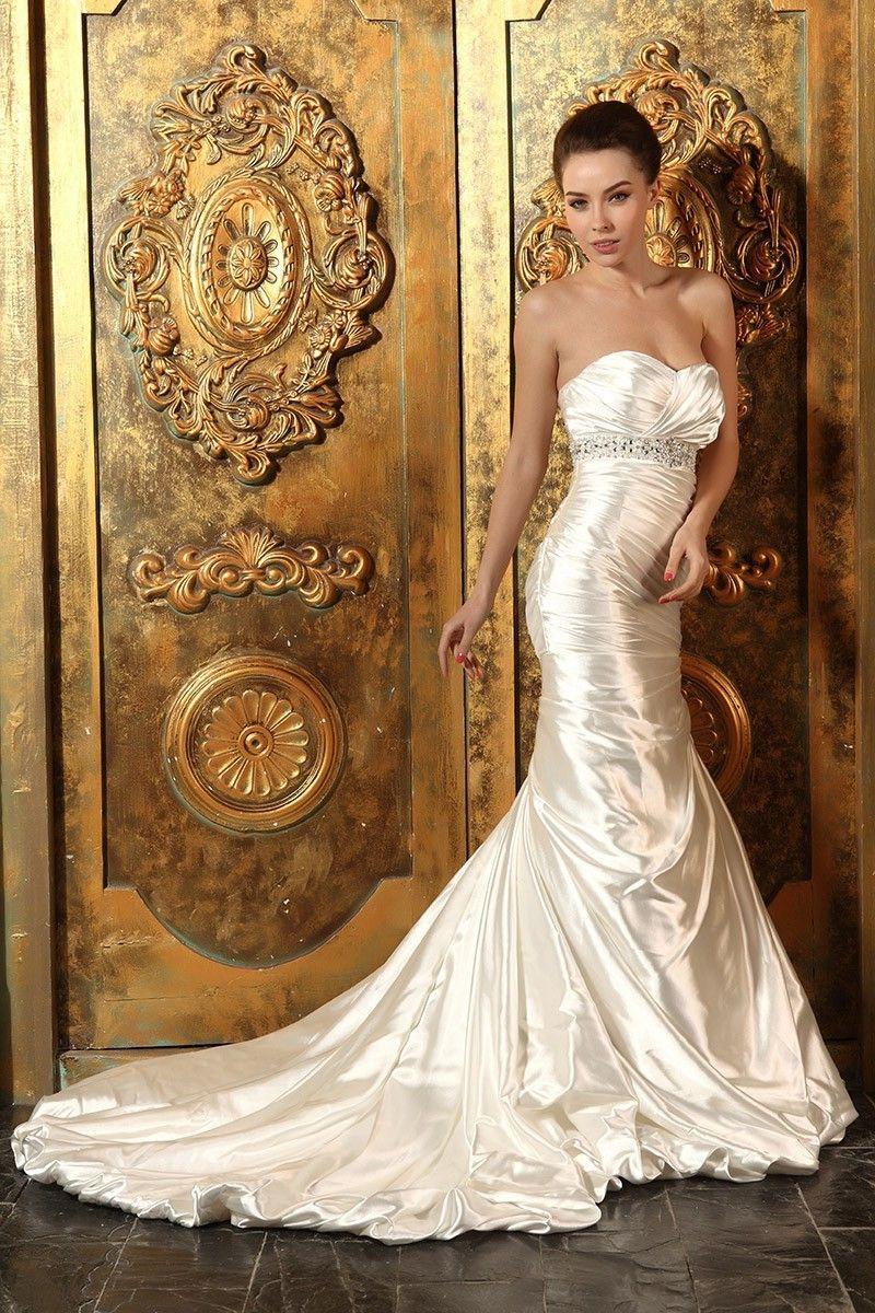 5d97cb485fc45 Royal Sweetheart Corset Embellished Waist Mermaid Wedding Dress