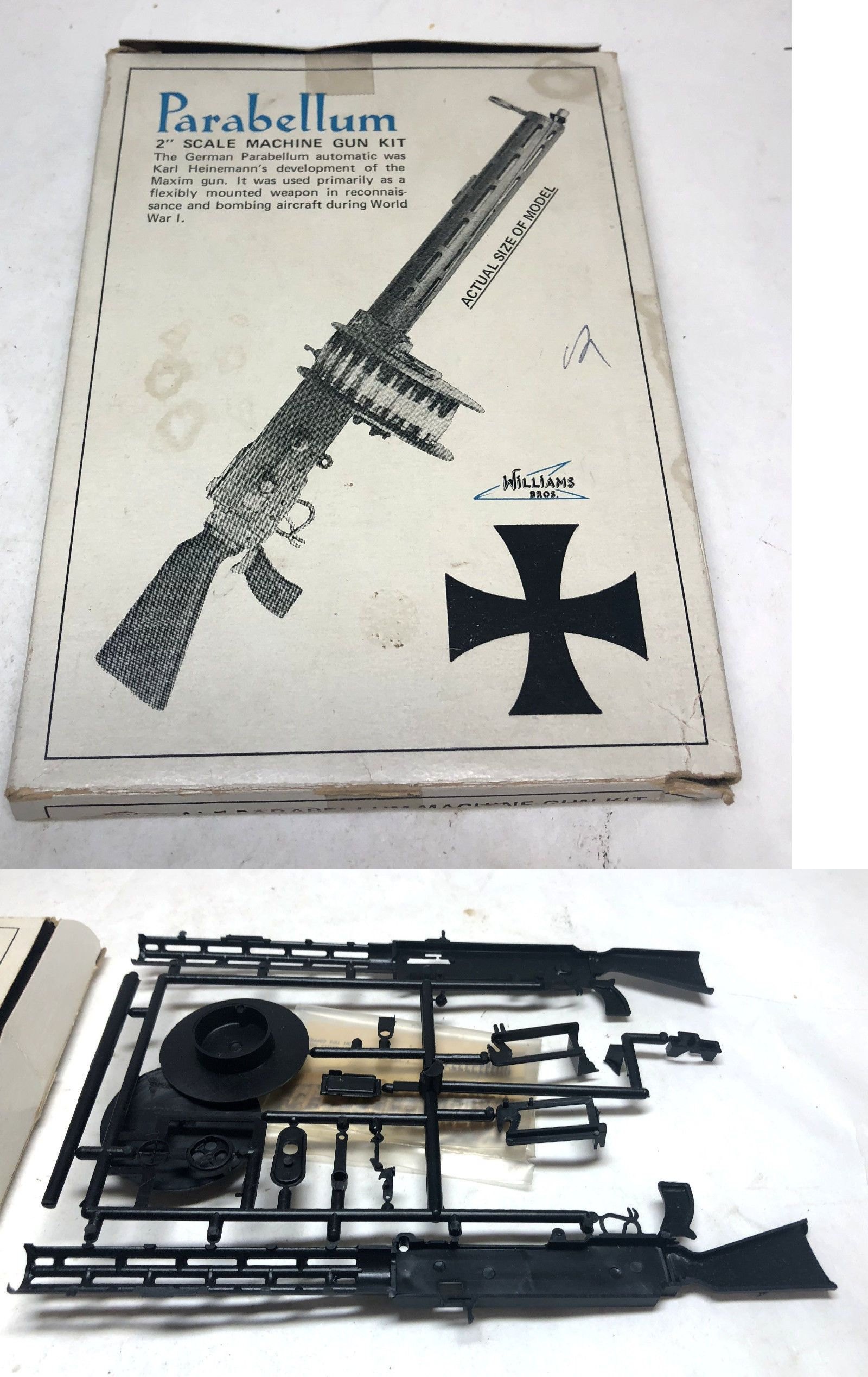 Other Military Models and Kits 1191: Williams Brothers German Parabellum  Machine Gun Plastic Model Kit