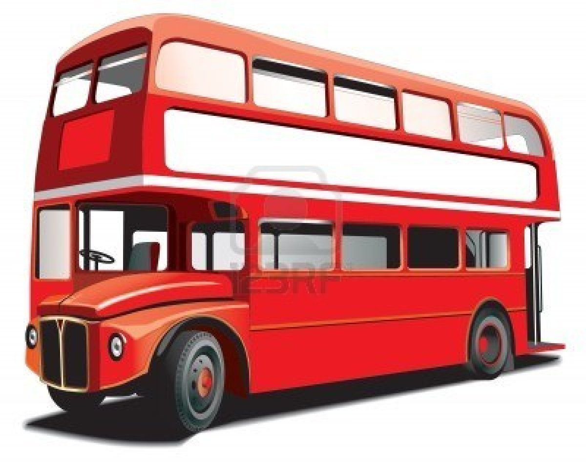 Stock Vector Double Decker Bus Bus London Bus