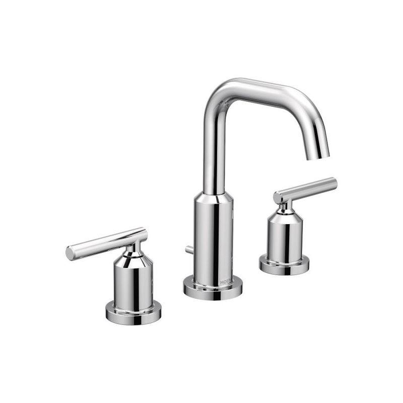 moen t6142 gibson widespread bathroom sink faucet includes popup drain assemb chrome faucet