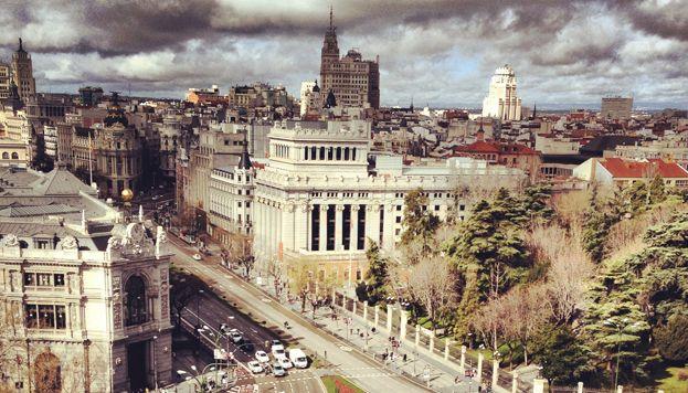 Panorámica Desde El Mirador Del Palacio De Cibeles Madrid