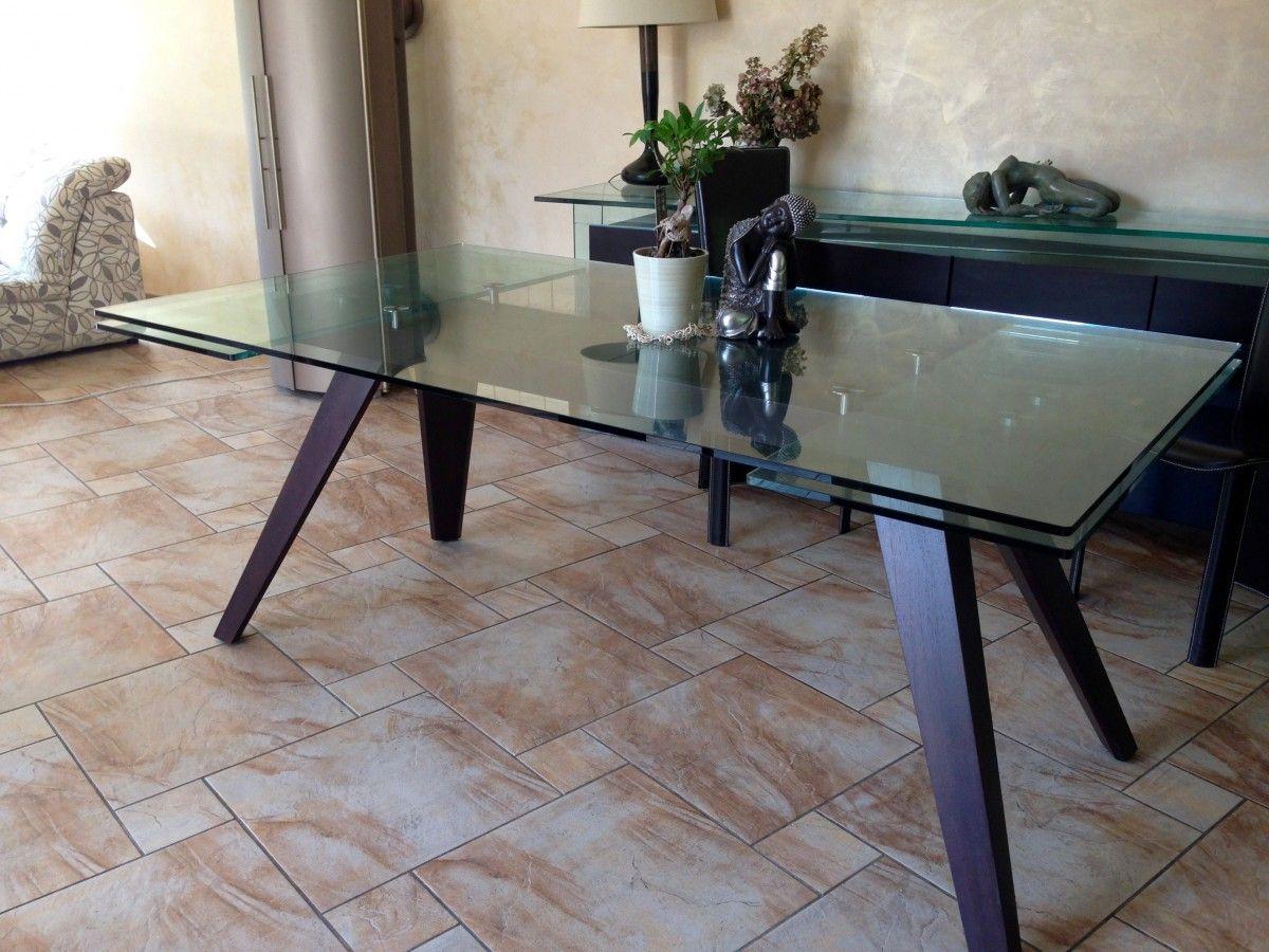 Table Salle Manger Plateau Verre 12 Mn Paisseur Dimensions 1 80  # Table Pour Tele En Verre
