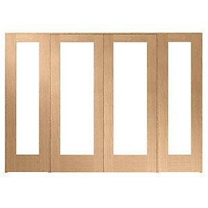 Wickes Oxford Internal Room Divider Oak Veneer 2 x 762mm Doors with 2 Demi Panels 2017  sc 1 st  Pinterest & Wickes Oxford Internal Room Divider Oak Veneer 2 x 762mm Doors with ...