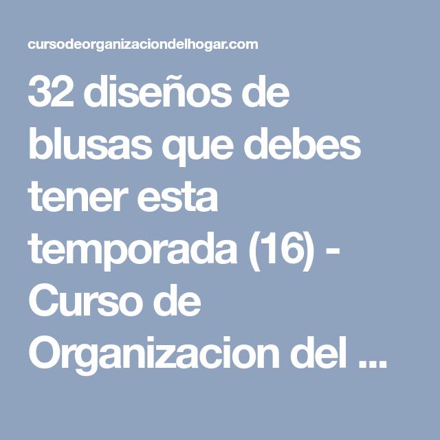 32 diseños de blusas que debes tener esta temporada (16) - Curso de  Organizacion c41592b64a1cc