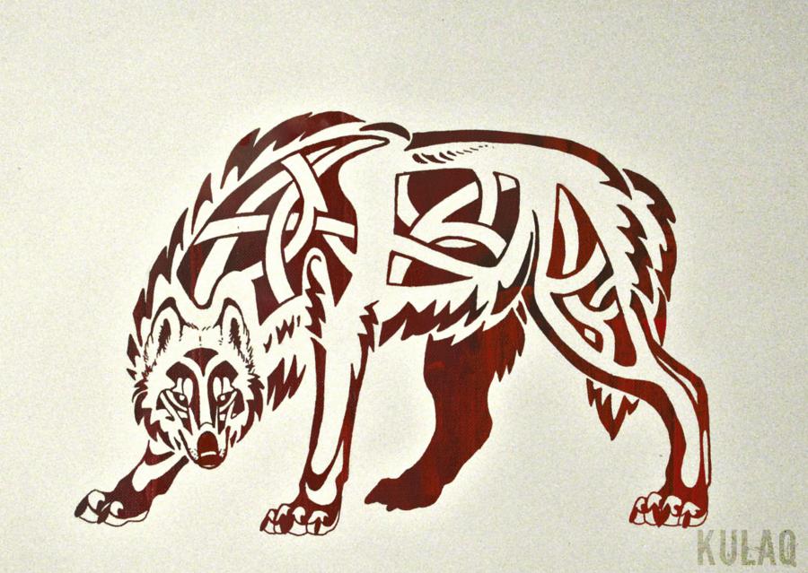 tribal celtic wolf by edeneue on deviantart canis lupus. Black Bedroom Furniture Sets. Home Design Ideas