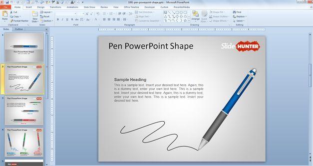 Download Free Pen Powerpoint Template Vectors Download Free Pen