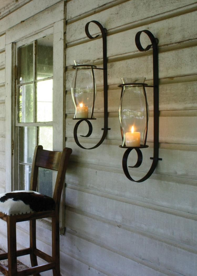 farmhouse wall sconce candle