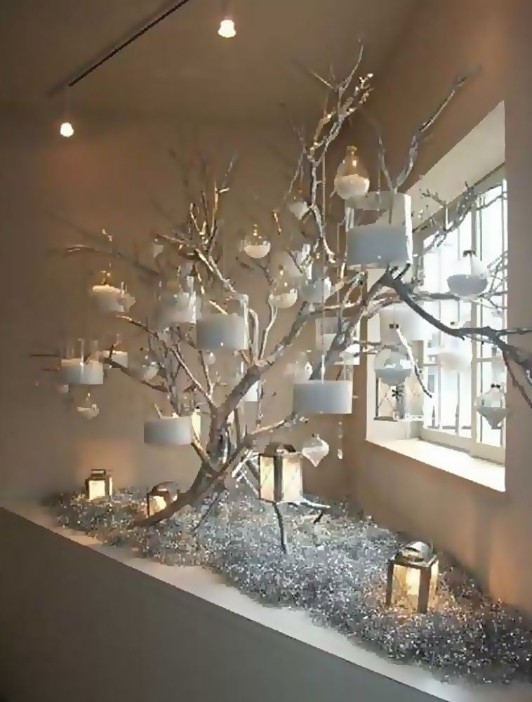 25 Amazing Diy Christmas Decor Ideas Using Branches And Twigs Indoor Christmas Decorations Christmas Decor Diy Cheap Tree Branch Decor