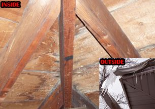 Does Your Roof Leak From Ice Damming Possible Cause Inadequate Shingle Underlayment Allows Water From Ice Commercial Roofing Systems Roofing Systems Roofing