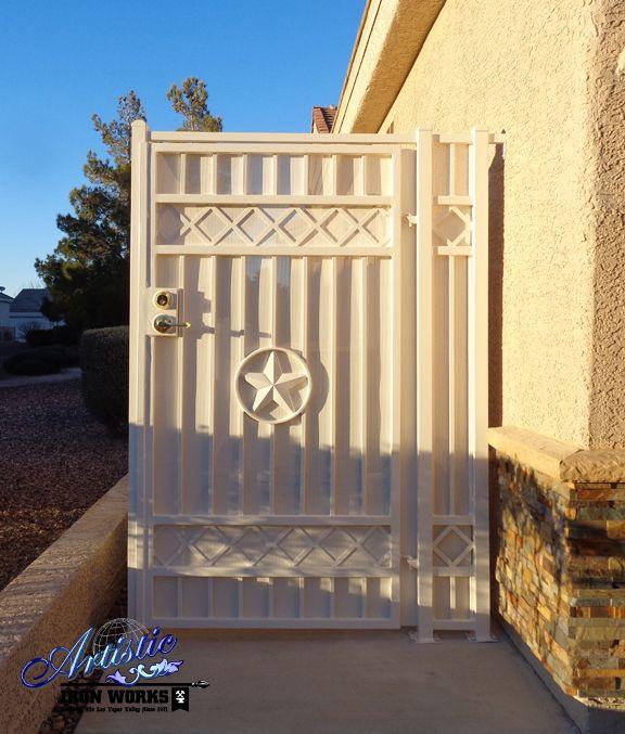 Texas Star Wrought Iron Side Yard Gate Wrought Iron Gates Yard