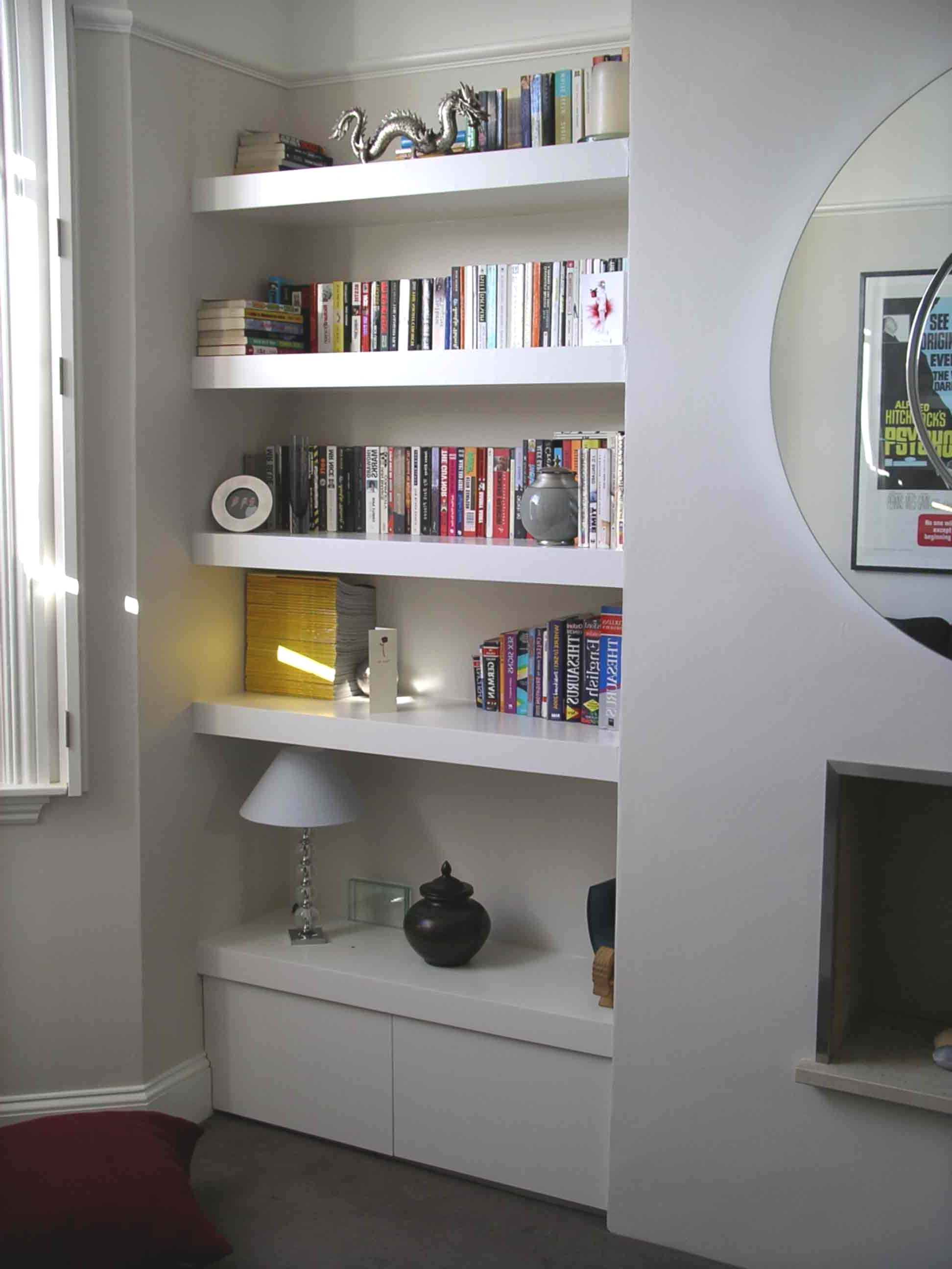 Image Result For Floating Shelves In Alcove