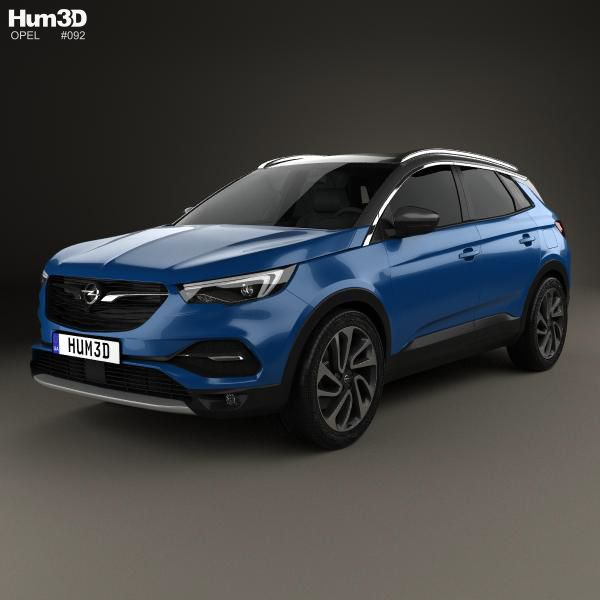 3d Model Of Opel Grandland X 2017 3d Model Opel Car 3d Model
