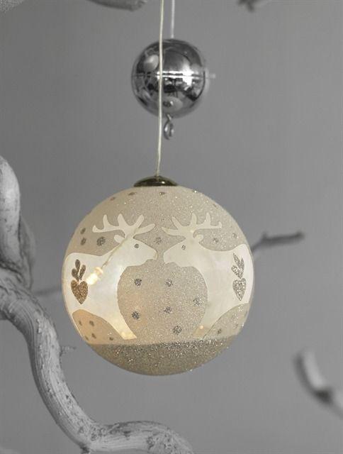Popular  Weihnachtsdekoration Sirius Sirius Home Dekorative Beleuchtung Wei Transparent Silber Batterie