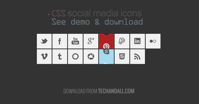 Check these cool social media icons power by .CSS it has a small on hover slider animation. See the demo below, or download the source file. Please don't forget to like us onFacebookand follow u...