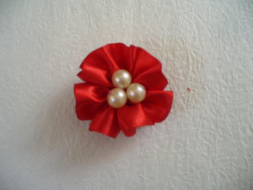 DIY Fabric Flower Hair Clips - Bead&Cord