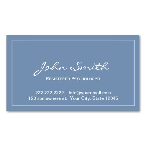 Blue registered psychologist appointment card business card template blue registered psychologist appointment card business card template accmission Image collections