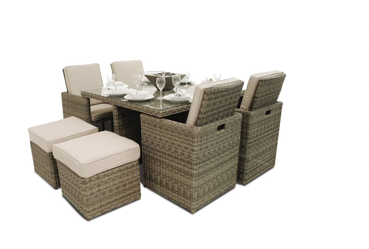 Rattan Winchester 5pc Cube With Footstools Maze Rattan Garden Furniture Design Garden Furniture Sets