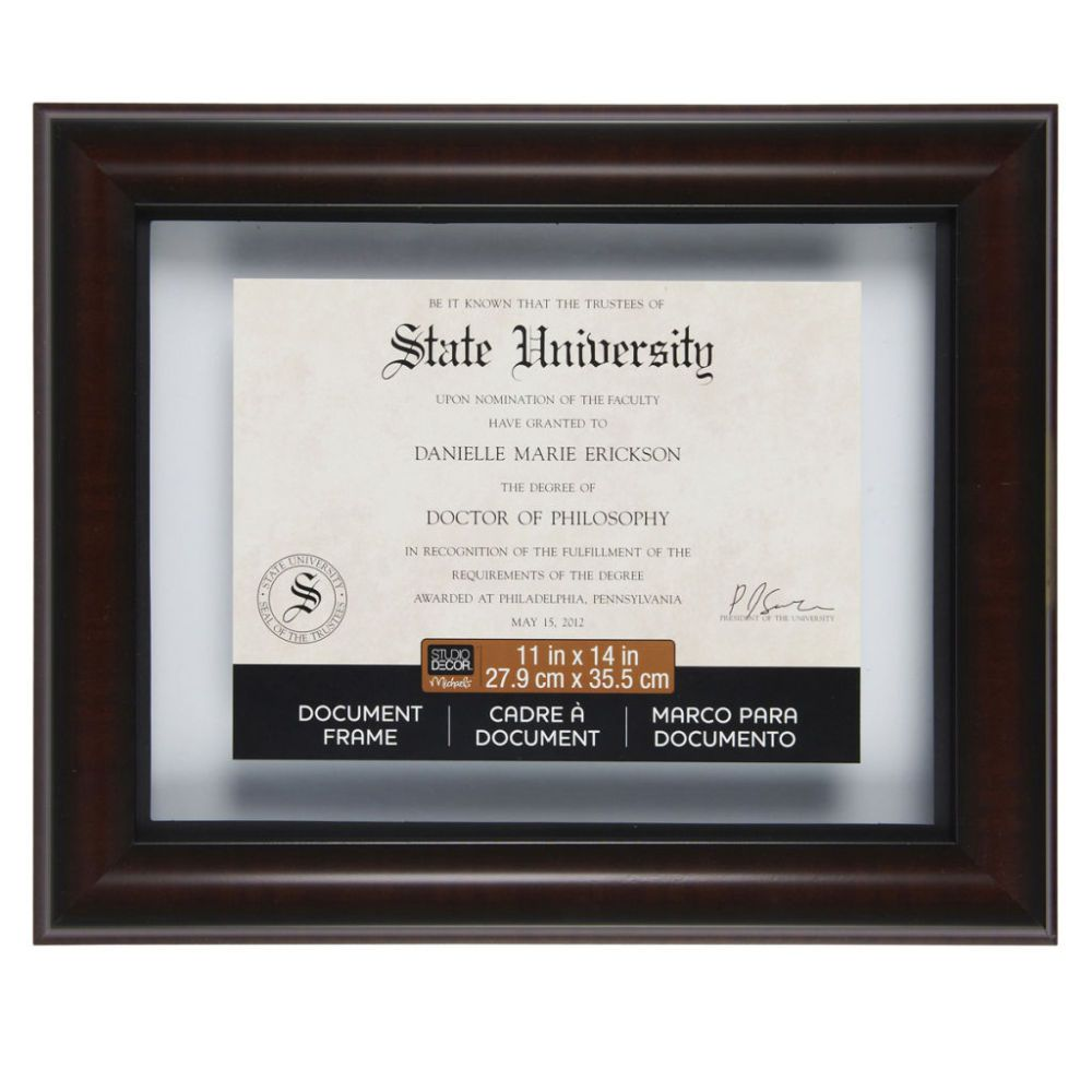 Mahogany Black 11 X 14 Document Float Frame By Studio Decor Document Frame Studio Decor Diploma Display