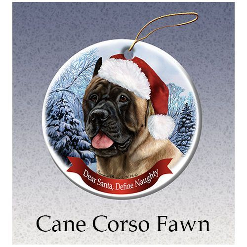Cane Corso Fawn Howliday Dog Christmas Ornament