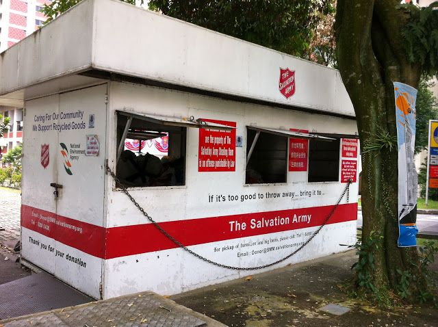 Salvation Army Drop Point In Bishan People Come Here To Donate