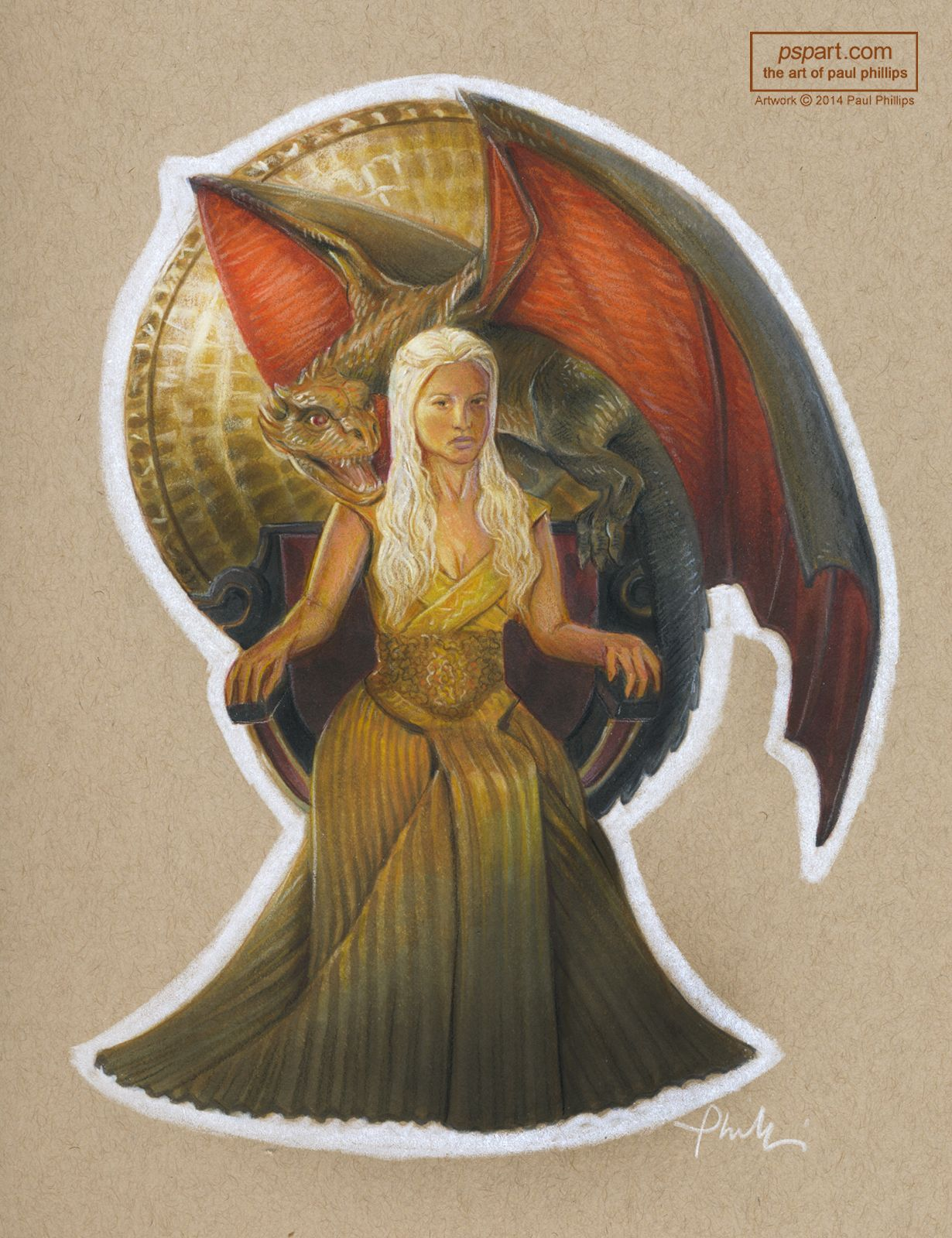 Dragons game of thrones colors - Markers And Colored Pencils On Toned And Tan Paper Likenesses Referenced From A Game Of Thrones Tr