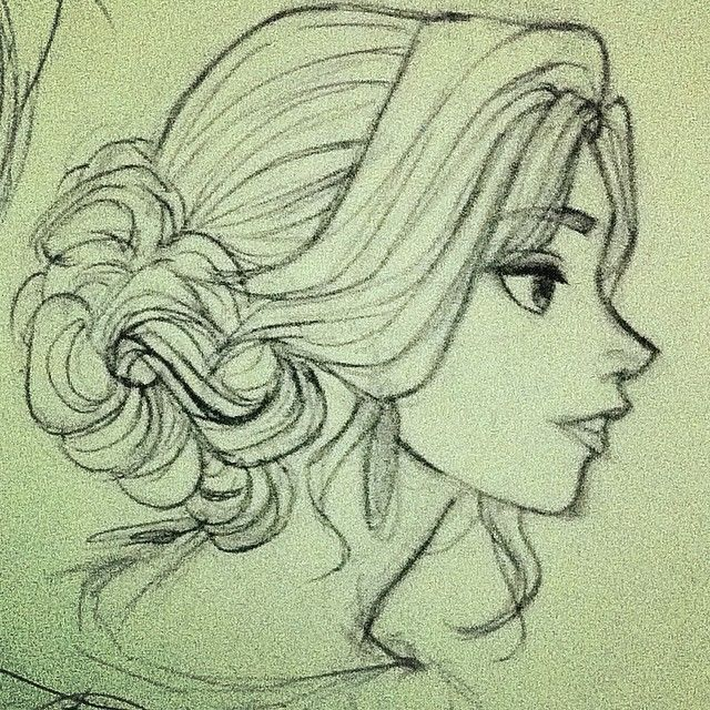 Sketch Hairstyle Design Art Drawing Illustration Inspiration