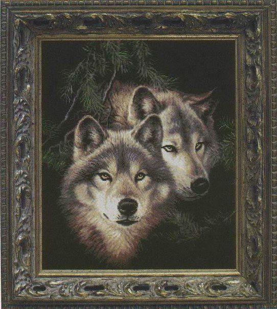 Вышивка крестом пара волков. Схемы вышивки крестом волки скачать бесплатно | Я Хозяйка