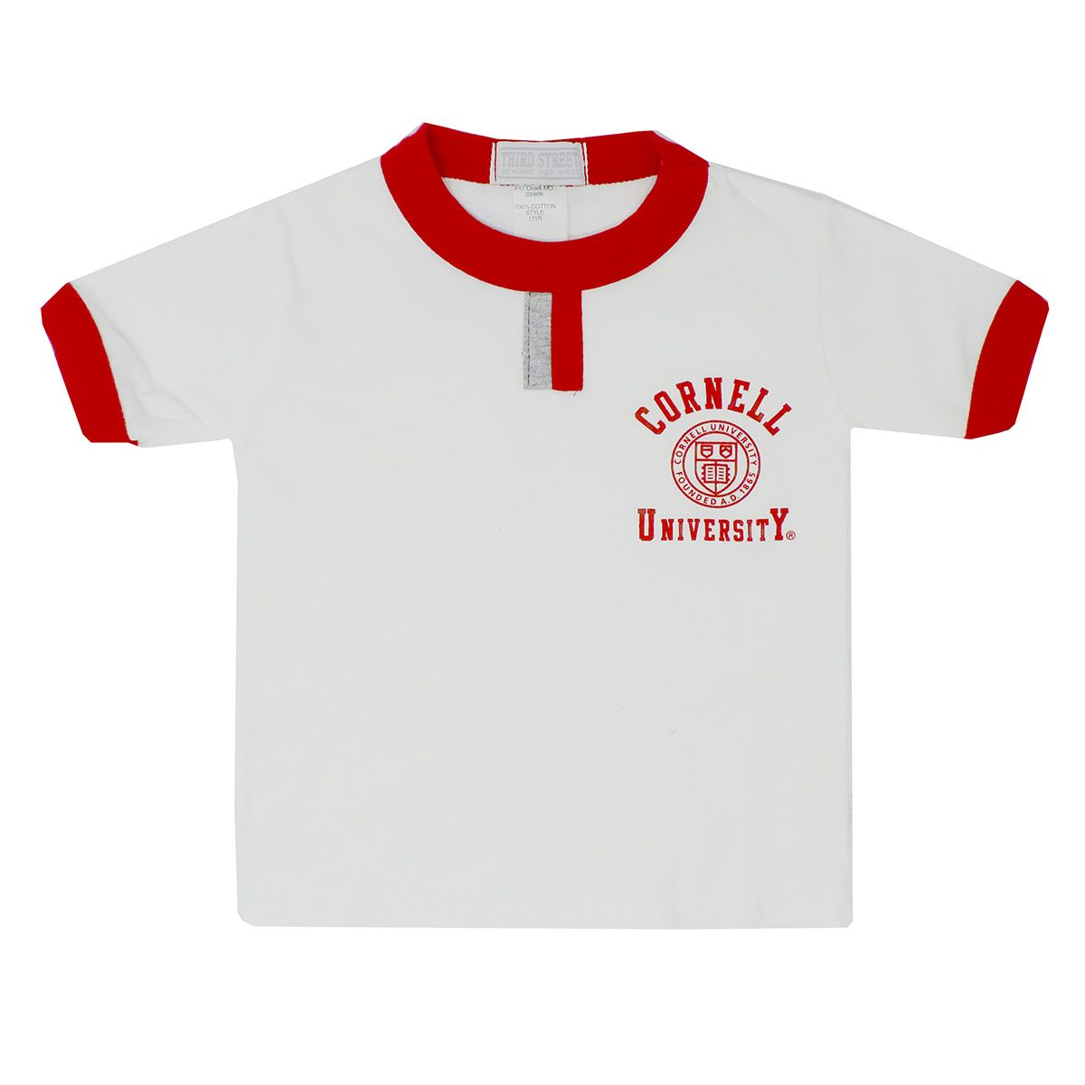 Toddler Tee White With Red Trim Toddler Tees Tees Mens Tops