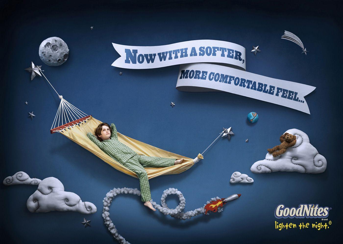 Goodnites underwear hammock publicidade pinterest