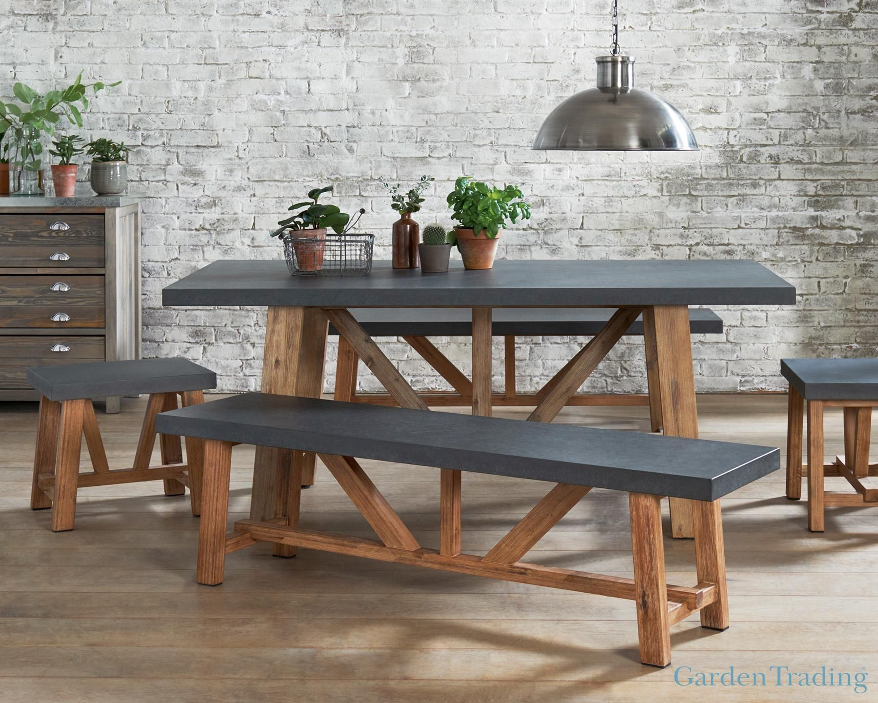 Buy Garden Trading Chilson Table And Bench Set From The Next UK Online Shop