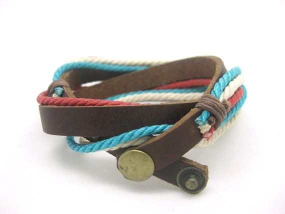 Shoply.com -leather bracelet is made of leather and rope  fashion cuff bracelet. Only $3.95