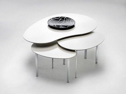 Dråben sofabord designet af Lars Kalmar Kastanje, i ...