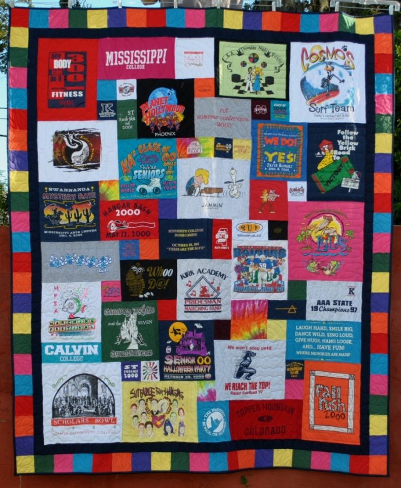 how to make a tshirt quilt with borders
