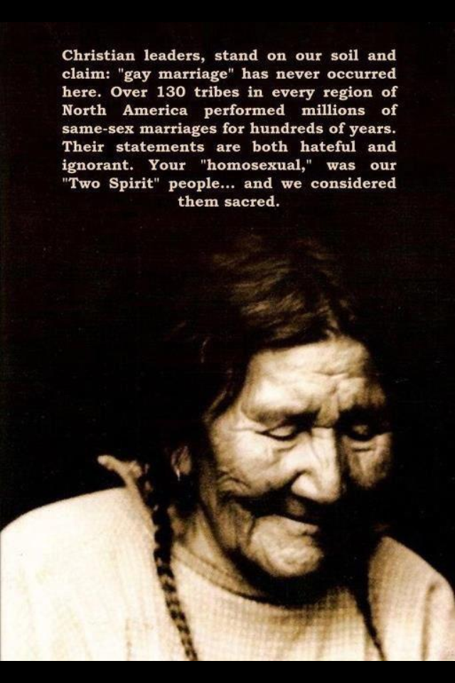 Gay Marriage Quotes Gay Marriage In Native American Cultures